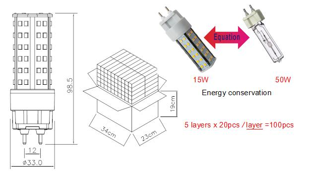 led g12 15w for led replacement g12 50w metal halide lamp